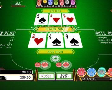 three card poker sbobet casino game